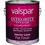 Valspar 004.6001804.007 Integrity Latex Flat Interior Wall Paint And Primer in One Paint
