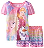 Disney Big Girls' FROZEN Two-Piece Pajama Set