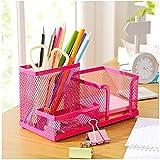 Angoo popular design desk organizer/pen holder/cell phone holder/cosmetic holder(Rose Red)