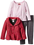 Little Lass Girls 2-6X 3Piece Lace Jacket Set
