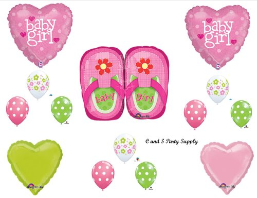 It'S A Girl Shoes Baby Shower Balloons Decorations Supplies front-1038719