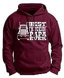 img - for Grandpa Gift Papa Best Truckin' Ever Truck Driver Premium Hoodie Sweatshirt XL Mroon book / textbook / text book