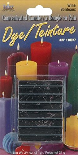 Yaley Concentrated Candle Dye Blocks, 0.75-Ounce, Wine (Candle Dye Purple compare prices)