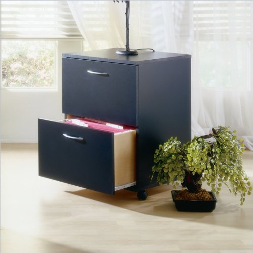 Nexera Mobile 2 Drawer Mobile Wood Filing Cabinet