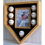 Fancy Baseball & Photo Display Case Shadow box, Holds 8 X 10 photo, UV Protection... by DisplayGifts