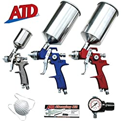 Advanced Tool Design 9-Piece HVLP Spray Gun Set