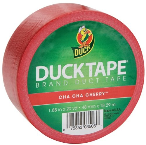Duck Brand 1265014 1.88-Inch by 20-Yard Colored Duck Tape, Cha Cha Cherry