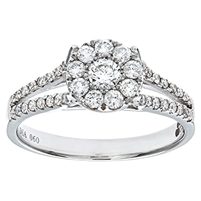 Ariel Round Brilliant 0.60ct I/I1 Diamond 18ct White Gold Engagement Ring