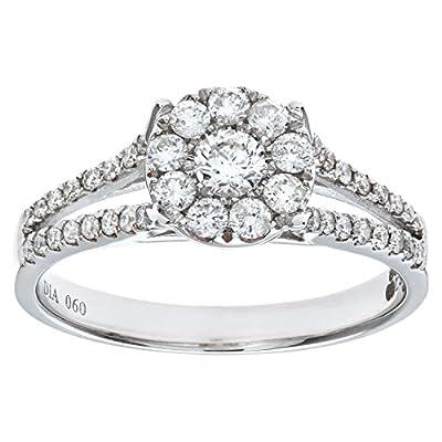 Ariel Round Brilliant 0.60ct I/I1 Diamond 18ct White Gold Engagement Ring