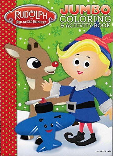 Rudolph The Red-Nosed Reindeer Jumbo Coloring & Activity Book - 1