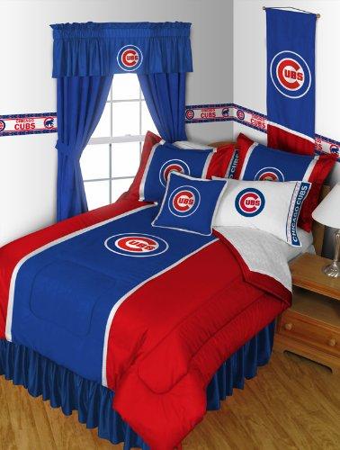 Nice Chicago Cubs QUEEN Size Pc Bedding Set Comforter Sheet Set Pillow Cases