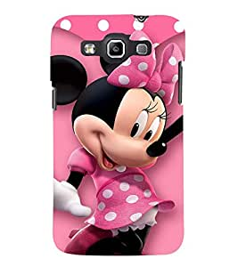 Printvisa Polka Dot Pink Mickey Mouse Back Case Cover for Samsung Galaxy Quattro i8552::Samsung Galaxy Quattro Win i8552