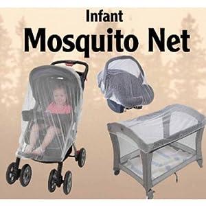 Moustiquaire / Voile Anti-Moustiques Multifonctions pour Lits, Poussettes & Siège-Autos avec sac de Voyage GRATUIT
