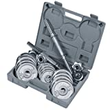 Royalbeach Chrome Dumbbell Set With Case - 8 x 1.0 Kg. 4 x 0.5 Kg