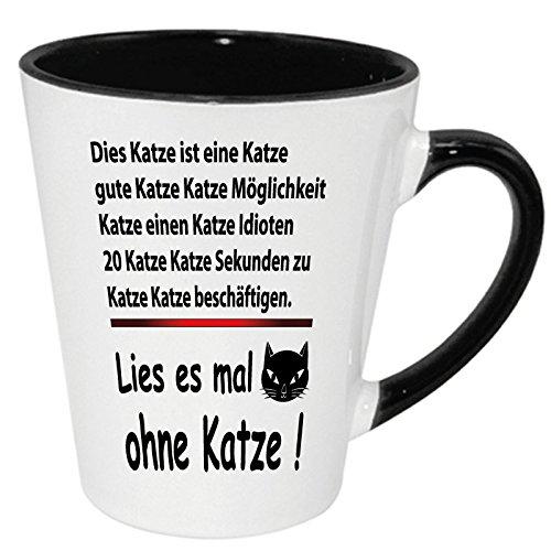 Tassen Lesen : Lustige spr?che tasse latte becher schwarz quot katze lesen