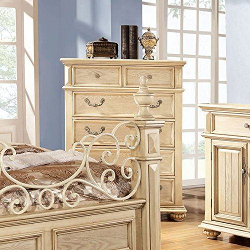 Waldenburg Transitional Style Antique White Finish Bedroom Chest front-1011781