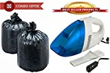 150 Pcs Trash Rubbish Waste Garbage Disposable Bags With Portable Car Vacuum Cleaner - GR150CM2