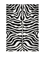 Chic Orange Alfombra Shaggy Zebre / Shaggy Motifs (Negro / Blanco)