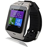 Stoga Uwat STG-A18 Smart Bluetooth 3.0 NFC Waterproof Watch Phone Camera TF Card Wristwatch for IOS iphone Android Samsung HTC etc (Black)