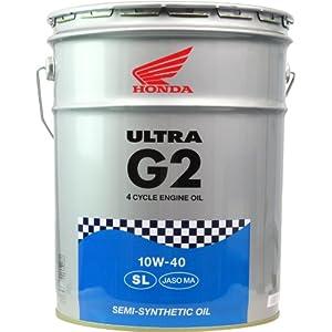 HONDA [ ホンダ ] ULTRA G2 [ ウルトラG2 ] 10W40 [ SL ] 部分化学合成油 [ 20L ]