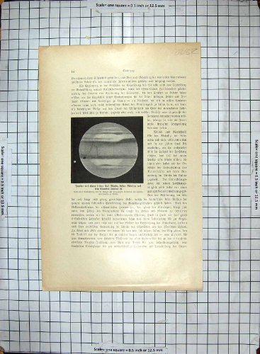 Antique Print Of Astronomers Stars Sky Jupiter Planet Telescope