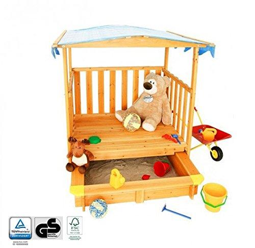 Spielhaus mit Sandkasten und Dach – Geprüfte Sicherheit, FSC®-Zertifikat jetzt bestellen