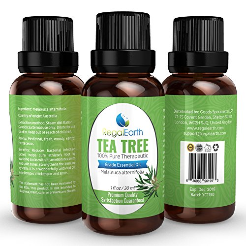 Tea Tree Essential Oil - 100% Pure & Best for Health, Aromatherapy, Skin, Hair, Acne, Immune System, Massage, Relaxation - Cheaper Than DoTerra and Young Living Oils - Australia, Highest Quality 30ml Review
