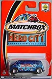 Matchbox Hero City Volkswagen VW Microbus Bus 54 BLUE by Matchbox
