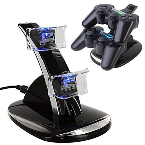 SUNKY - Dual PS4 / PS4 Slim Pro Console Fast Charging Station Stand, USB Charger Dock Stand for Sony Play Station 4 Dual Shock ControllerCharger - LED Indicator (Playstation 4 Console Slim compare prices)