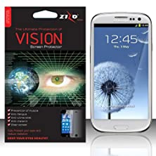 buy Warrior Wireless (Tm) For Samsung Galaxy S3 Iii I9300 - Zizo Vision Screen Protector - Anti-Uv + Bundle = (Item + Cellphone Stand) - By Thetargetbuys