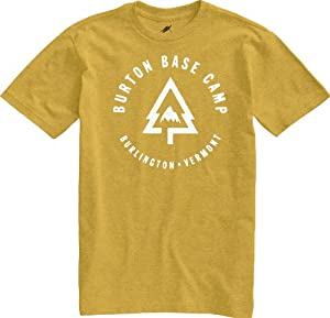 Burton Herren T-Shirt Base Camp Recycled Slim Fit Tee, Heather Gold Mine, 56/58 (XL), 11285100709