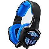 SADES® SA-806 Professional Stereo PC Gaming Headset With Microphone & Volumn Controle & LED Light & 3.5mm Noise-cancelling...