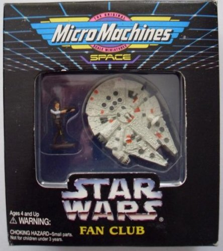 Star Wars Micro Machines Millennium Falcon and Han Solo Fan club Exclusive - 1