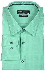 SWATHE Men's Formal Shirt (5975-3-42, Green)