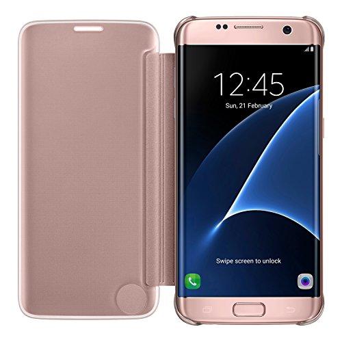 Galaxy S7 edge用 Clear Viewカバー ピンク 【Galaxy純正 国内正規品】 EF-ZG935CZEGJP