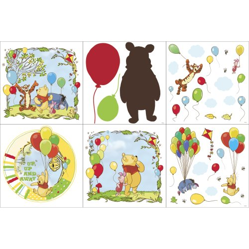 Blue Mountain Wallcoverings 31420610 Pooh Scenic Self-Stick Decorating Kit - 1