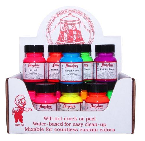 Angelus NEON Acrylic Leather Paint Starter Kit (Angelus Leather Paint Neon Colors compare prices)