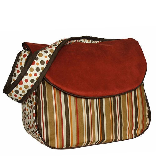 Hoohobbers Messenger Diaper Bag, Hot Tamale