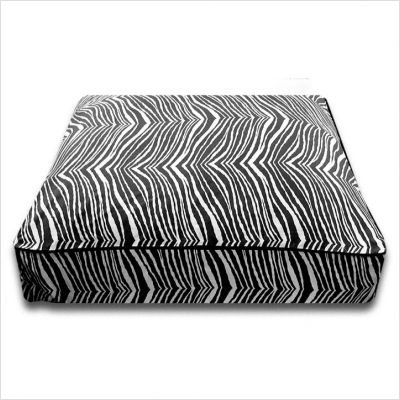 Rectangle Black Zebra Dog Bed