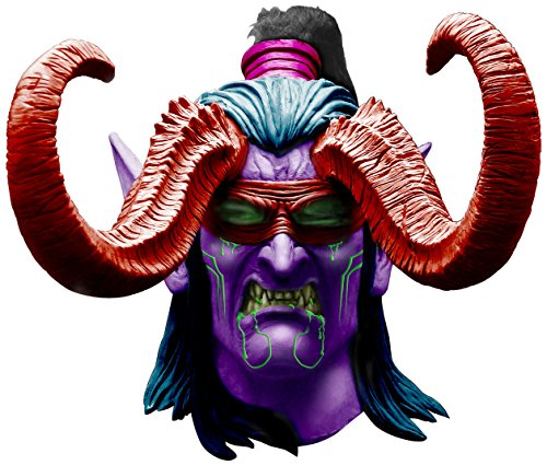 Men's World Of Warcraft Illidan Stormrage Latex Mask