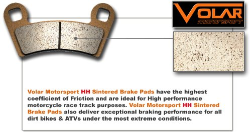 1987-2001 Honda CR 250 R Sintered HH Rear Brake Pads накладки на пороги honda cr v ii 2001 2007 carbon