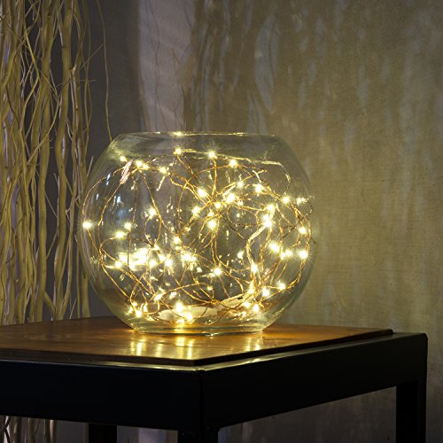 Party String Light, Kohree Copper Wire Lights, Starry Light String, Décor Rope Lights For Seasonal Decorative Christmas Holiday, Wedding, Parties With Timer Battery Box (10ft 60 LEDs, Warm White)