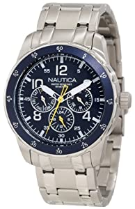 Nautica Men's N14646G Windseeker Classic Analog Enamel Bezel Watch