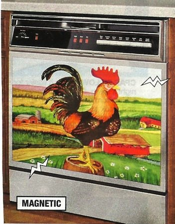 DECORATIVE ROOSTER APPLIANCE MAGNET - LARGE (26