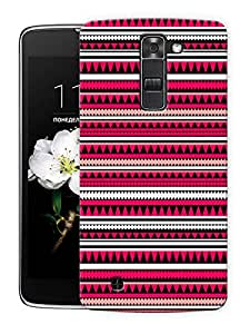 "Aztec Tribal Ethnic Print Pattern Printed Designer Mobile Back Cover For ""LG K7"" By Humor Gang (3D, Matte Finish, Premium Quality, Protective Snap On Slim Hard Phone Case, Multi Color)"