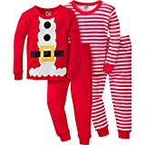Gerber Boys  4 Piece Holiday Cotton Pajama Set, Santa, 18 Months