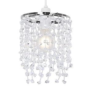 Modern Clear Acrylic Crystal Droplet Ceiling Pendant Light Shade