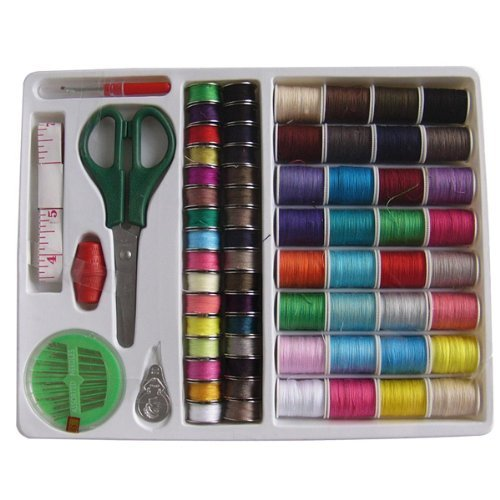 Best Deals! Foxnovo 100-in-1 Essential Sewing Tools Kit Needlework Box Set for Domestic Sewing Machi...