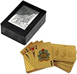 artesanal caso de las cajas de tarjeta de soporte de la cubierta de madera - jugando titular de la tarjeta con la cubierta de oro en dólares de las tarjetas de -3.8 x 11,4 x 8,9 cm
