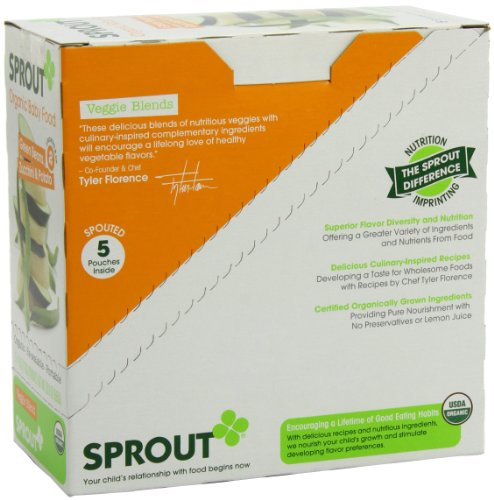 Sprout Intermediate Organic Baby Food Green Bean Zucchini and Potato 4 0 Ounce Pack of 5